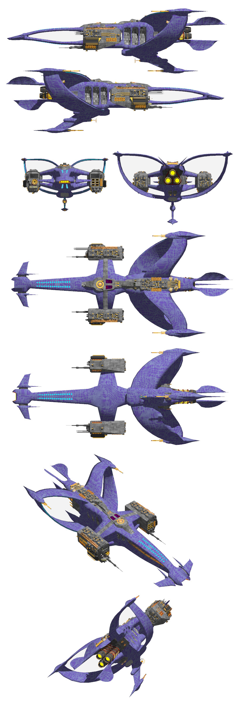 "Model view of the Supernova, a Minbari-Vorlon-Earth Force hybrid battleship (original design by Conrad ""Lynx"" Wong)."
