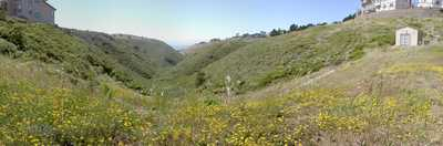 View from within the San Andreas Fault where it runs from Daly City into the Pacific Ocean.