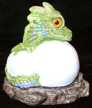 The baby dragon from the Windstone dragon family. (Rear View)